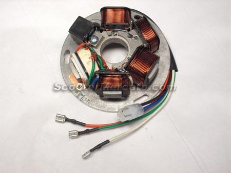 217866 Electric, Stator, PX AC Non Battery Vespa ... on vespa dimensions, vespa switch diagram, vespa parts diagram, vespa frame diagram, vespa motor diagram, vespa seats, vespa engine, vespa stator diagram, vespa accessories, electric scooter diagram, vespa 150 wiring, vespa sprint wiring, vespa clock, scooter battery wire diagram, vespa v50 wiring,