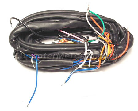 164872 Electric, Wiring Harness for Early P ScooterMercato.com on 4 pole switch, 4 pole magnets, 4 pole plug, 4 pole cable, 4 pole capacitors, 4 pole cap, 4 pole relays,